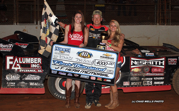 ... 411 Motor Speedway by Roby Helm CARTERSVILLE, GA (June 7) – Ronnie Johnson of Chattanooga, TN took the lead on lap 23 and then checked out to win his ...