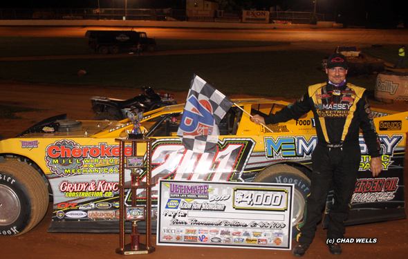 ... this month Billy Ogle, Jr. appeared to be on his way t cruising to his first career ULTIMATE Super Late Model Series victory at Volunteer Speedway when ...
